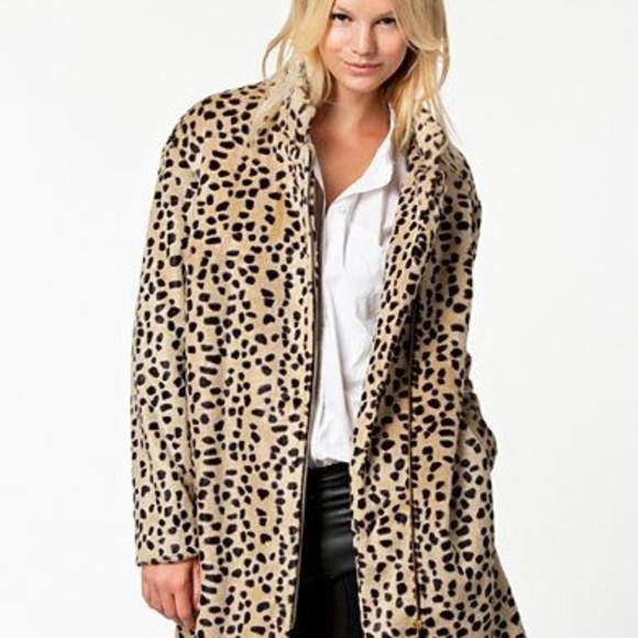 By Malene Birger Jackets & Blazers - NWT Malene Birger Leopard Faux Fur Coat Sz US 2/4